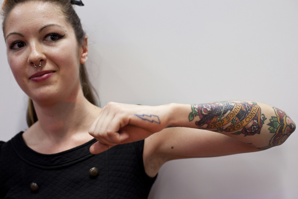 lower arm tattoos for women