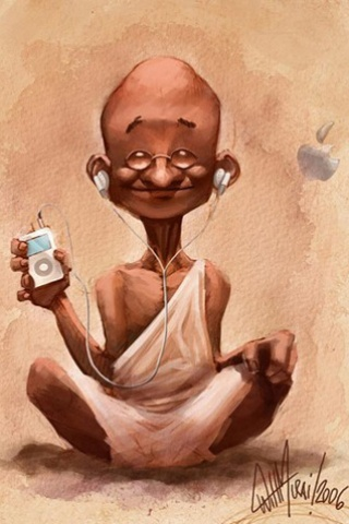 ipod wallpaper. Gandhi Ji ipod Wallpaper