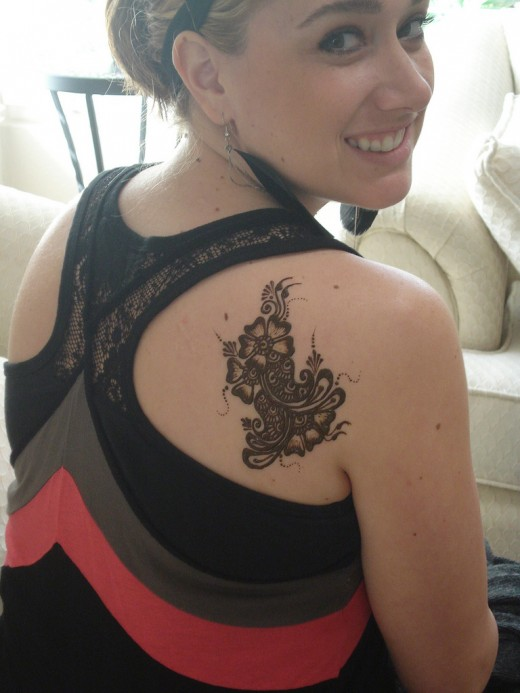 Henna Tattoo for Back