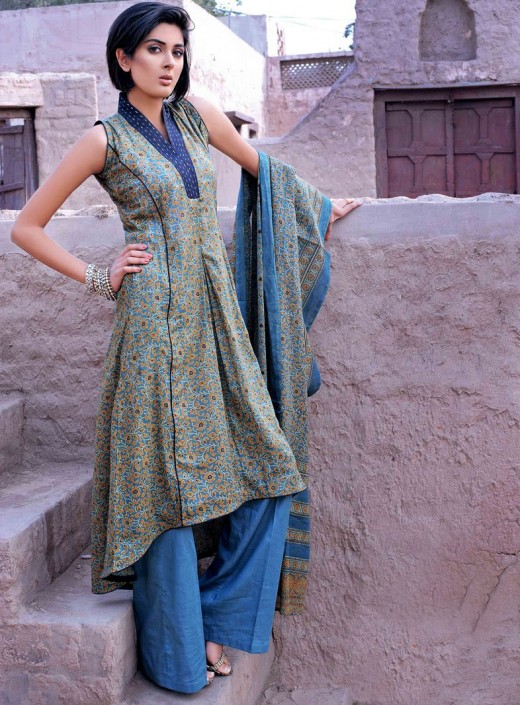 Latest Long Kameez With Trouser
