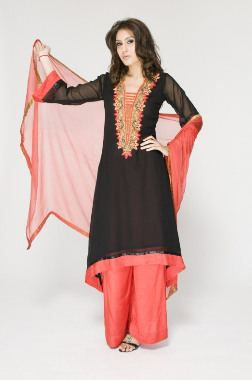 Long Kameez Wide Legged for Young Girls