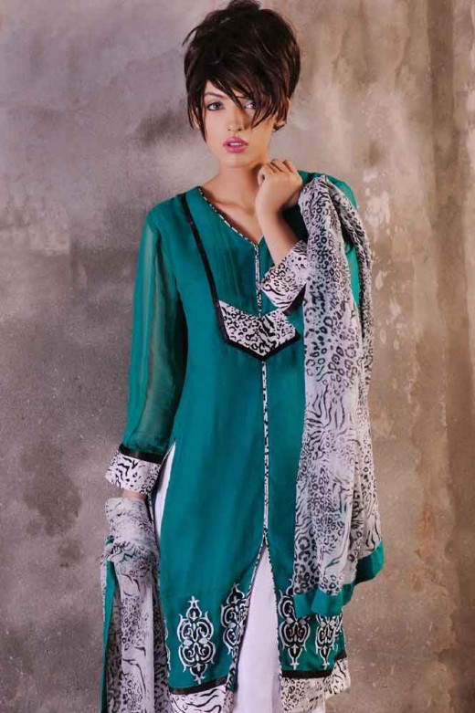 Long Kameez With Trouser for 2011