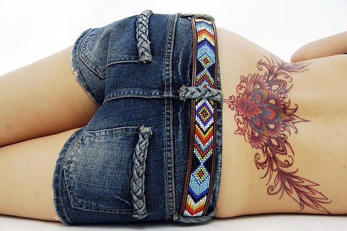 girls tattoos on lower stomach. Awesome Lower Back Tattoo