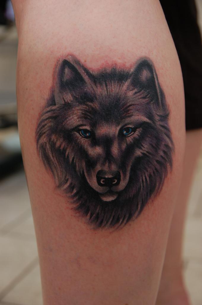 Wolf Tattoo For Leg Sheclick Com
