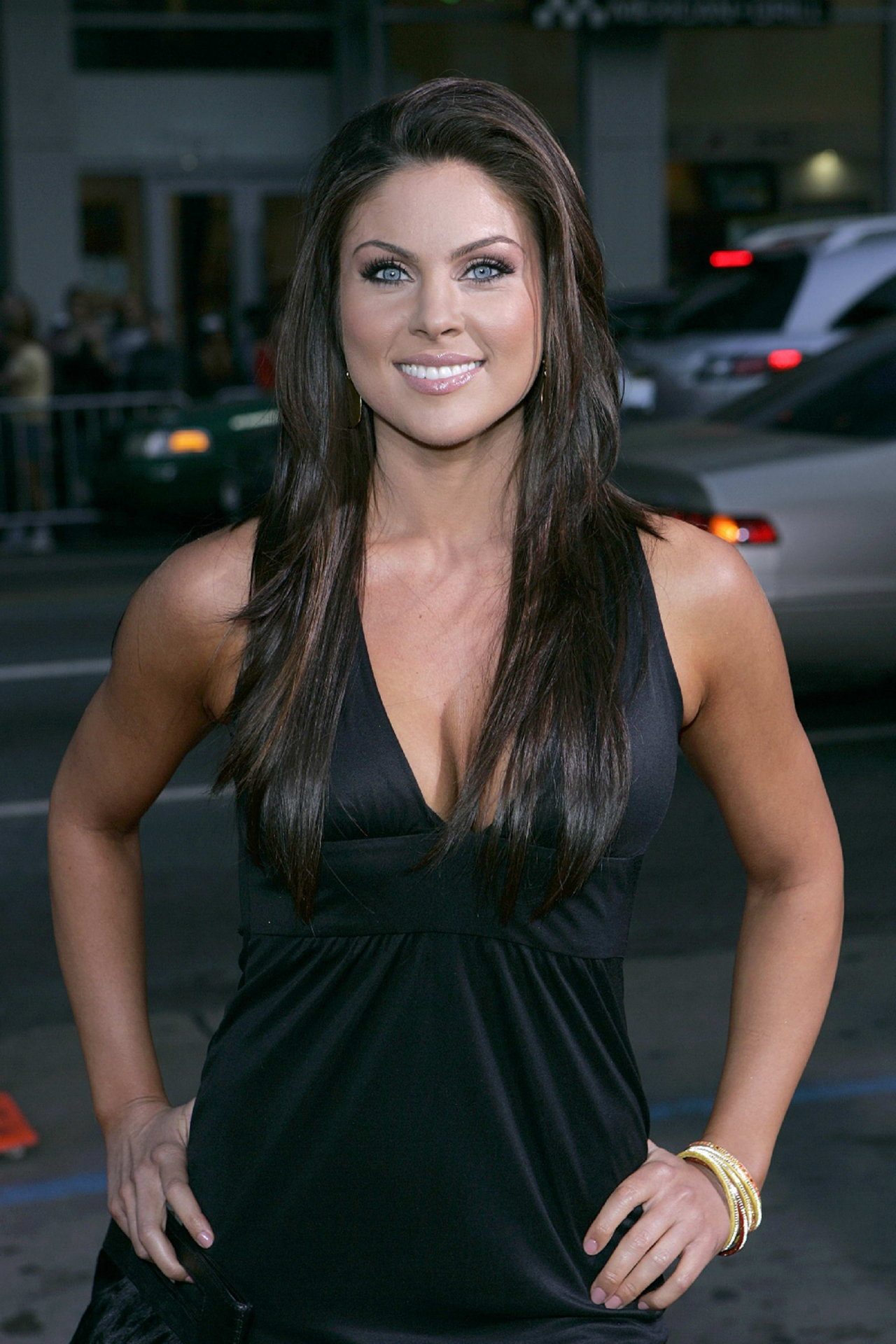 Nadia Bjorlin In Black Dress Sheclick Com