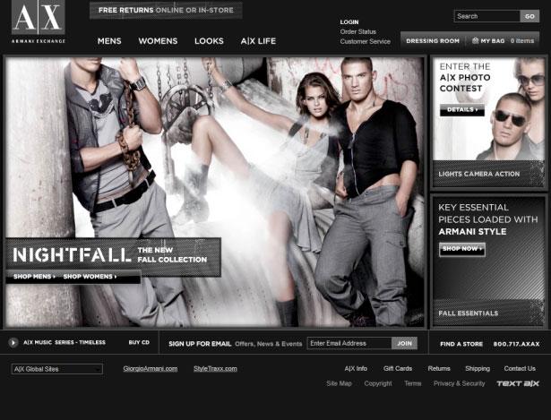 armani exchange website