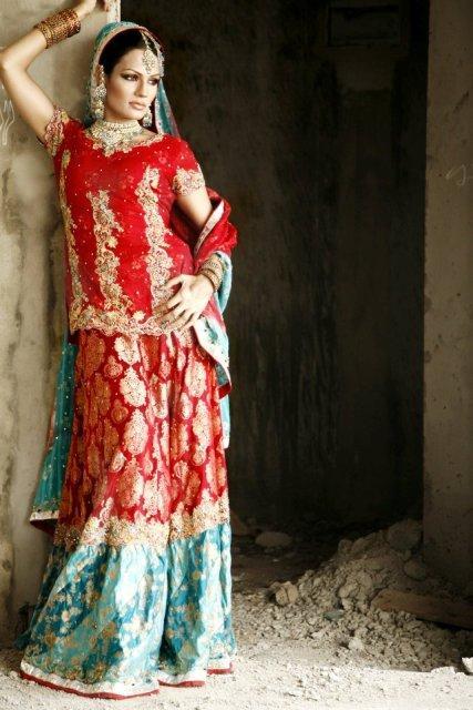 Indian Bridal Sharara Outfits For 2012