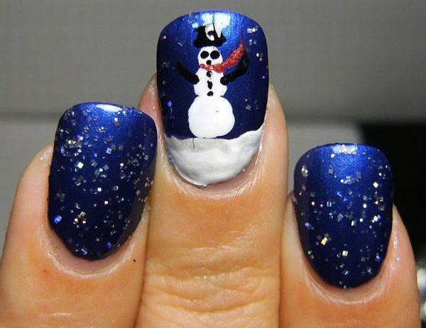 Christmas Snowman Nail Art Ideas For 2012