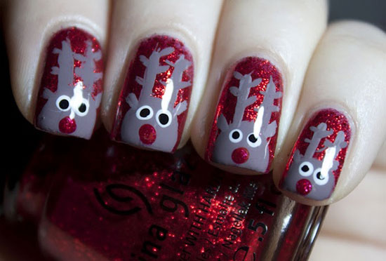 15 delightful christmas nail art designs 2012