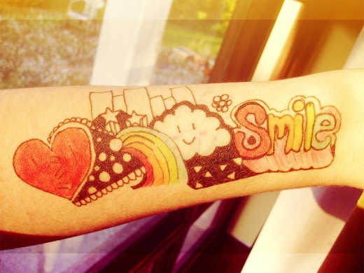 Smile Faux Tattoo Designs