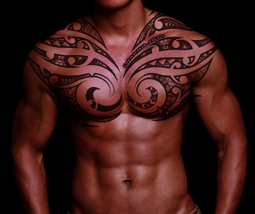 Tribal Summer Tattoos for Chest 2014