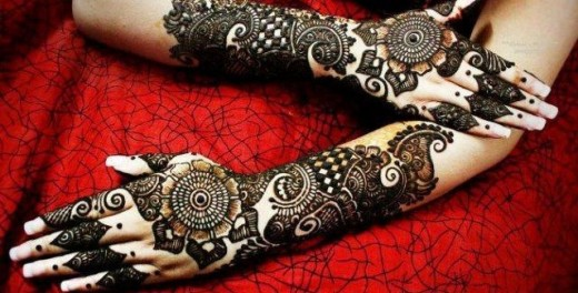 Hand and Arm Eid Mehndi Designs 2014 for Girls