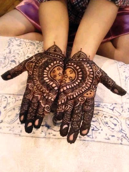 Latest Hand Henna Designs For Eid 2014