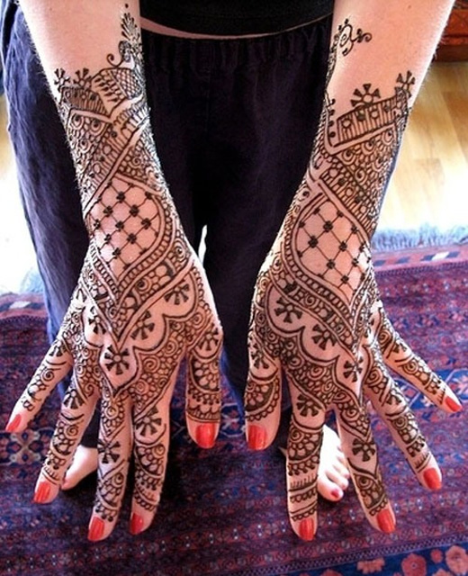 Latest Mehndi Designs For Eid 2014 Wrist