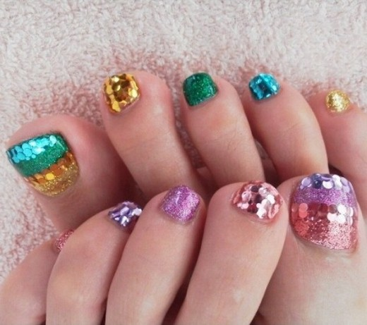 Summer Small Nail Art Designs For Eid 2014