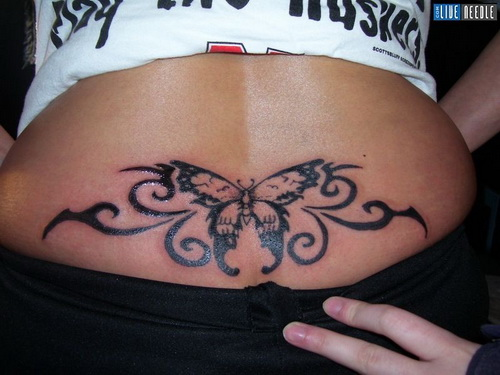 Butterfly Tattoo Designs for Lower Back 2014