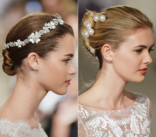 Carolina Herrera Bridal Updo Haircut for Wedding