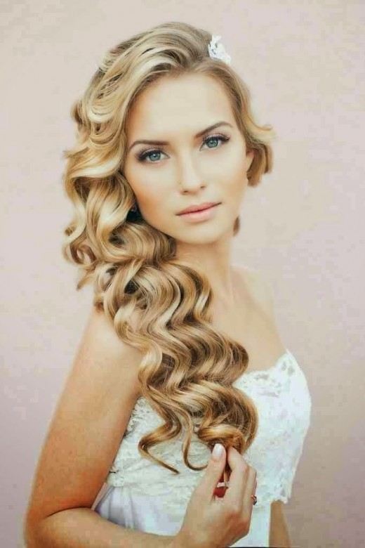 Latest Wedding Curly Hairstyle For 2015