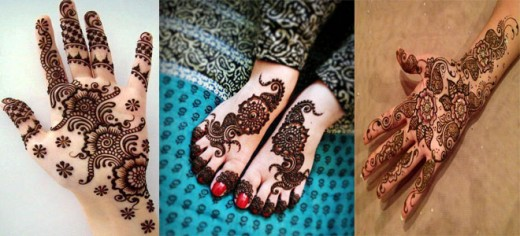 Christmas Floral Mehndi Designs For Hands and Feet