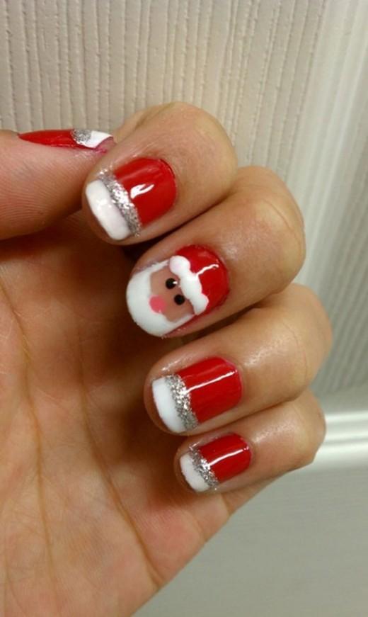 Fantastic Santa Christmas Nail Art Ideas