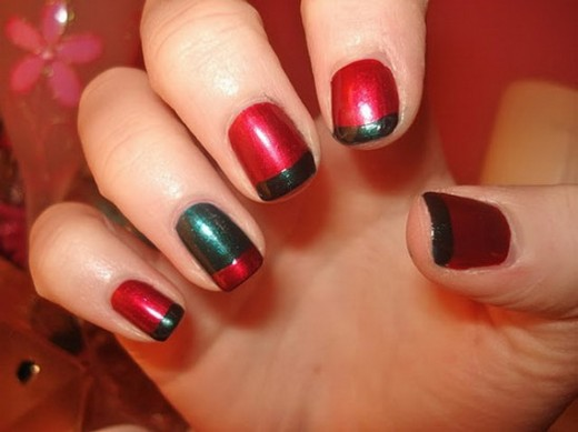 Simple Nail Polish Fashion for Christmas 2015