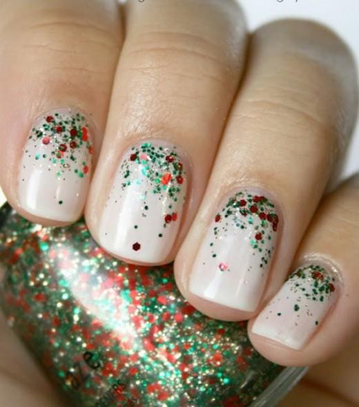 White Christmas Nail Art Ideas for Teen Girls