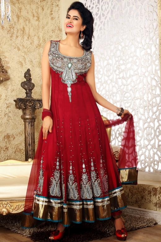 Fantastic Anarkali Style Dresses for Valentines Day