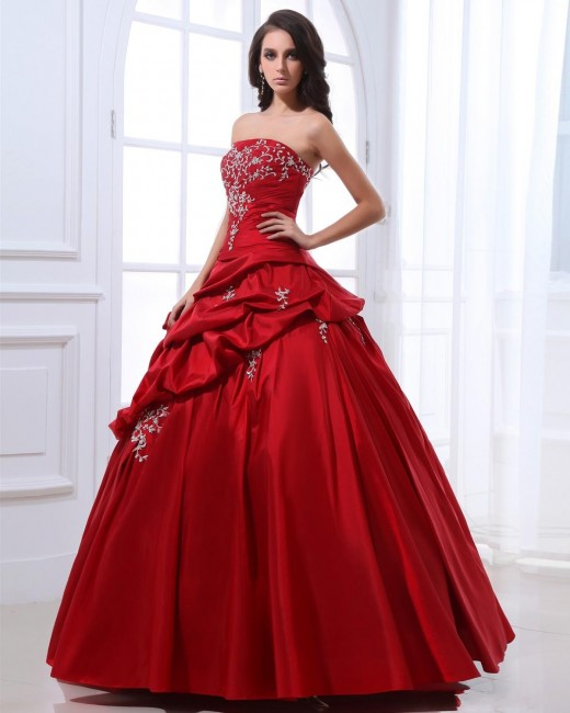 New Ball Gown Red Dresses for Valentines Day 2015