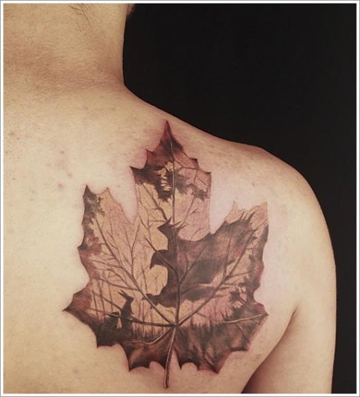 Fantastic Back Shoulder Tattoo Idea for Spring 2015
