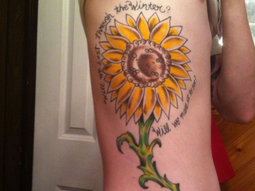Sun Flower Spring Tattoo Ideas for 2015