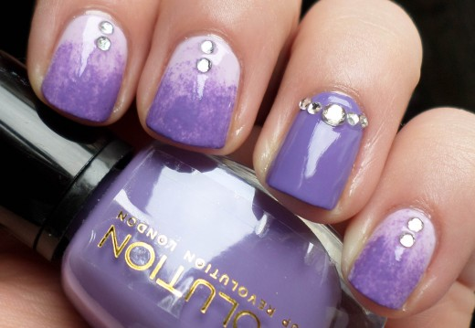 Awesome Lilac Love Nail Paint Trend