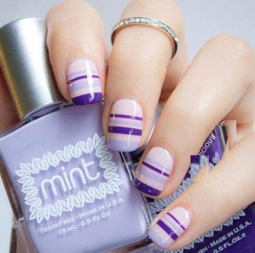 Pastel Lilac Nail Design for Short Nails