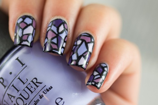 Stained Glass Window Nail Art 2015