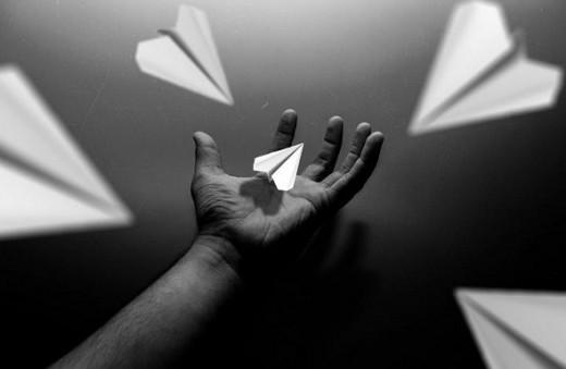 Conceptual Art Photography - Paper Plane