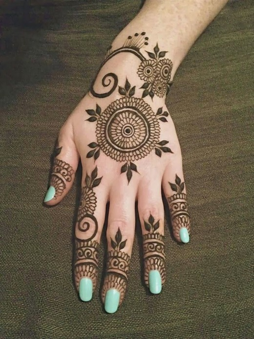Beautiful Eid Ul Fitr Henna Designs for Teen Girls 2015