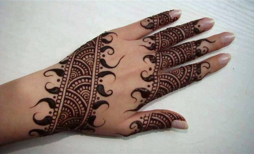 Cool Arabic Hand Mehndi Designs for Eid 2015