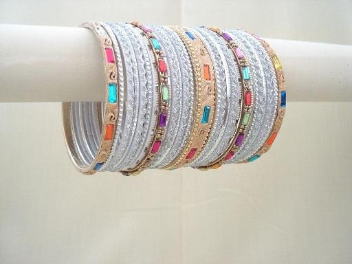 Bridal Silver Bangles Designs Collection 2015
