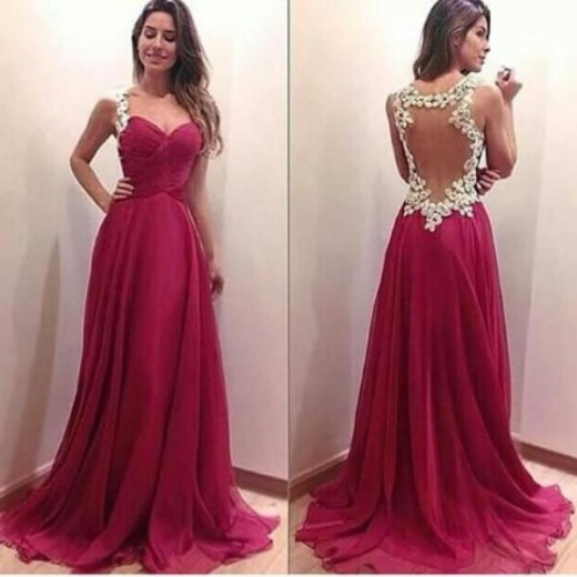 Charming Burgundy Sweetheart Floor Length Prom Dress