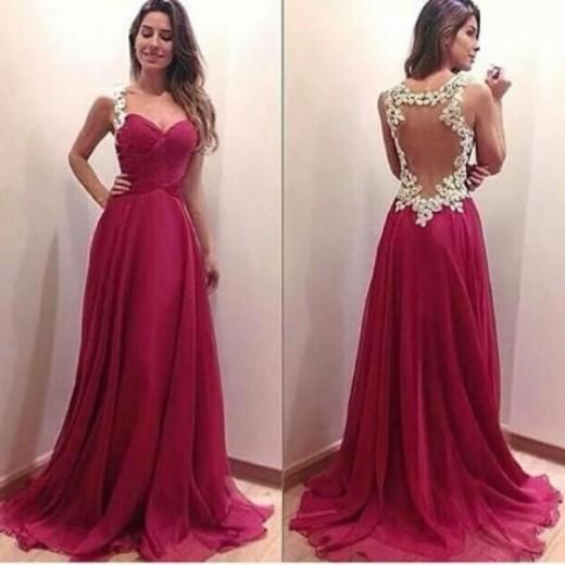 Charming Burgundy Sweetheart Floor Length Prom Dress