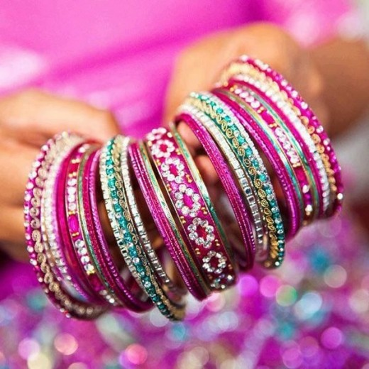 Cool Purple Glass Bangles Designs 2015
