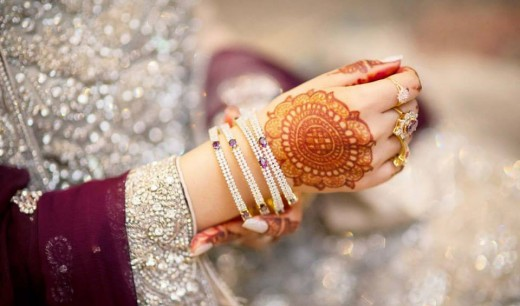 Elegant Eid Mehndi and Bangles Design 2015