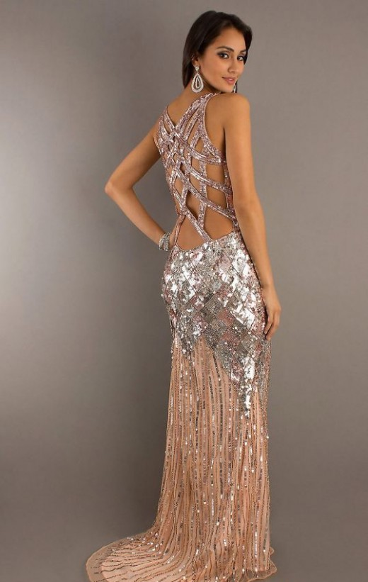 Long Sparkly Sequins Prom Outfits for 2015