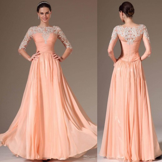 Simple Sleeveless Prom Dresses for Brides 2015