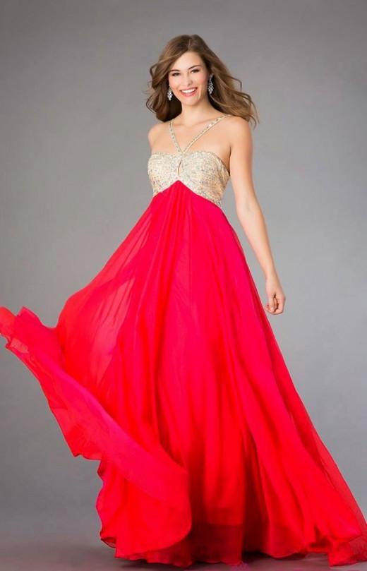 Stylish Alyce Paris Red Prom Dress 2015