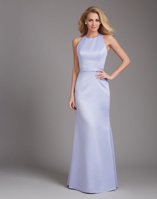 Top Open Back Simple Lavender Prom Dress 2015