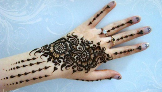 Awesome Back Mehndi Designs 2015 for Eid
