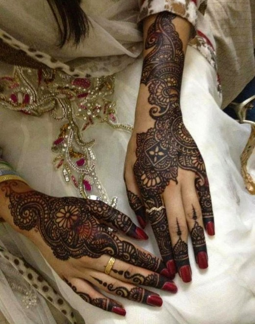 Bridal Modern Style Mehndi Design Photo 2015