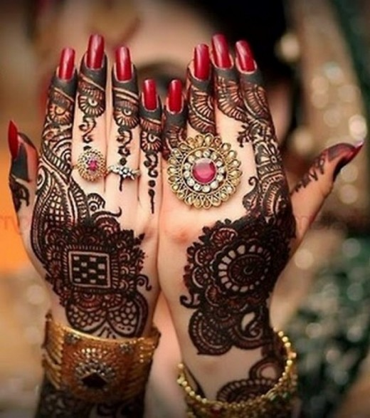 Eid Ul Azha Back Hand Mehndi for Brides 2015