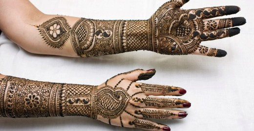 Girls Mehndi Designs For Full Hands Front And Back 2015