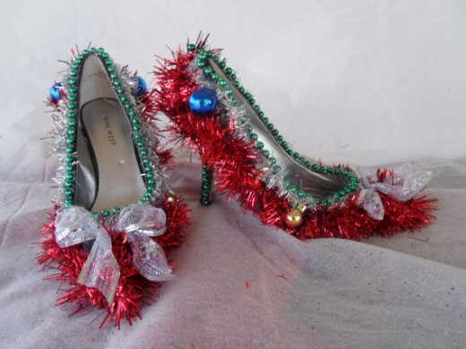 Tacky Christmas Sweater Party Shoes